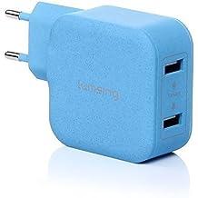 Lumsing® USB Ladegerät 17W 3.4A USB Ladegerät 2 Ports Wall Charger für iPhone 7/7Plus/6S/6sPlus/6/6Plus/ 5S / 5 / 4S, iPad Air,iPad Mini,Galaxy S7/S7 Edge/S6/S5 / S4 / S3, Note3/4,Kameras, MP5 / MP4 ,andere Smart Phones und PC Tabletten Blau