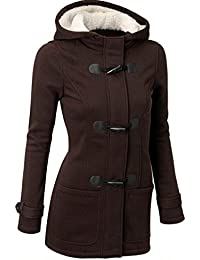 Tongshi Cazadora de mujer de moda abrigos y chaquetas de lana caliente delgado largo abrigo chaqueta Trench