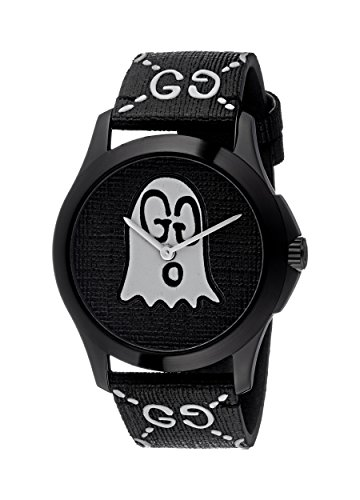 Gucci Unisex-Adult Analogue Classic Quartz Watch with Rubber Strap YA1264018