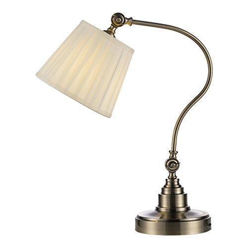 Ganeep Metalltuch Kunst Industriewind Vintage Tischlampe Schreibtisch Licht Drehbare Arm/Kopf Metall Struktur Schreibtischlampe Amerikanischen Schlafzimmer Nachttischlampe Innen Dekoration Leuchte