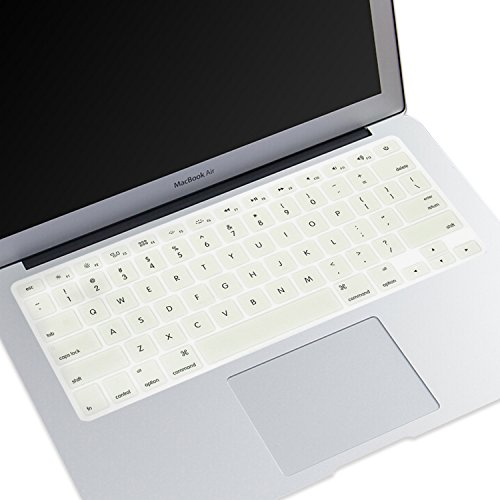 tur Haut Ultra Dünn Tastatur Cover für Uns Layout MacBook Air 33 cm MacBook Pro mit Retina Display 33 cm 38,1 cm 43,2 cm A- Cream ()
