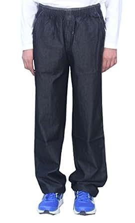 Romano Black Soft Feel Denim Track Pant Pyjama for Men