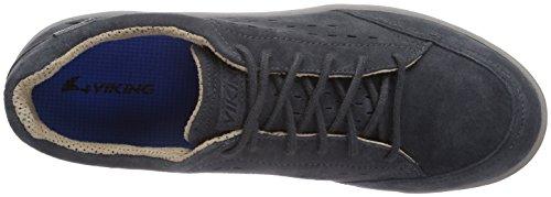 Viking Ulv Gtx, Bottines Basses Style Mocassin Sans Doublure Intérieure Homme Bleu - Blau (Charcoal/Blue 7735)