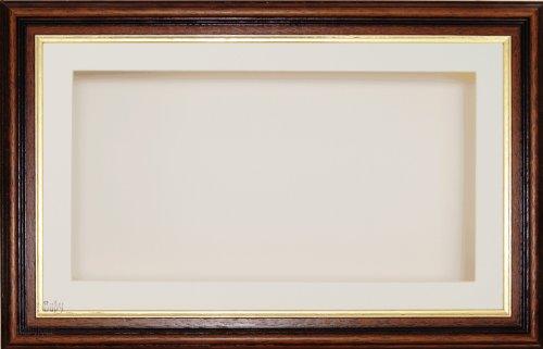 BabyRice Großer Holzkastenrahmen mit cremefarbenem Passepartout und Rückwand, Glasfront 36,8 x...
