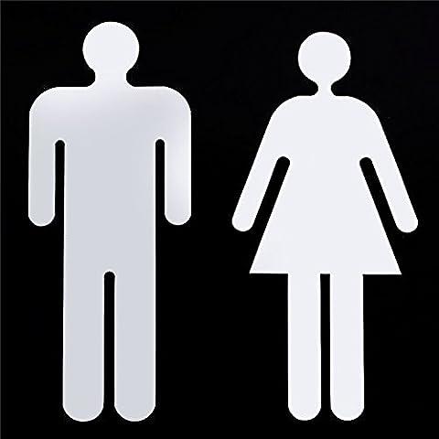 Neue Mode Männer und Frauen anmelden Spiegel Aufkleber Bad Männer und Frauen Anmelden 3D-Spiegel, an der Wand Aufkleber Home Decor, Silber