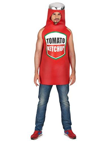 Costume da bottiglia di ketchup per adulto Taille Unique