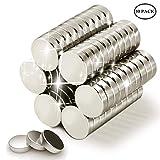 Wukong 30 Stück Stark Neodym Magnete,15mm x 4mm, für Whiteboard, Magnettafel, Magnetstreifen,Kühlschrank, Glas Magnetboards