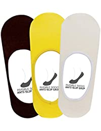 Supersox - Men's Anti Slip No Show Socks Pack of 3
