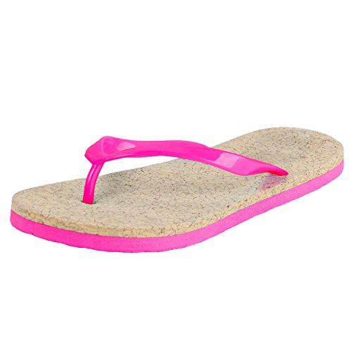 Oasap Senhoras Pink flops Monocromático Cunhas 1 Casuais Altas Hot Flip PwWdapw7q