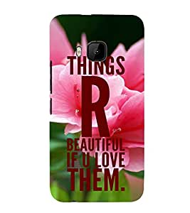 PrintVisa Designer Back Case Cover for HTC One M9 :: HTC One M9S :: HTC M9 (Love Defining Quote)