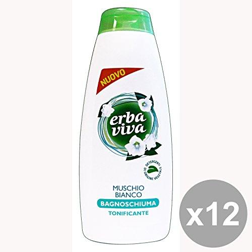 Set 12 ERBA VIVA Bagno Muschio Bianco 500 Ml. Saponi e cosmetici