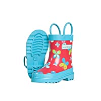 Target Dry Childrens Girls Butterfly Pattern Wellington Boots