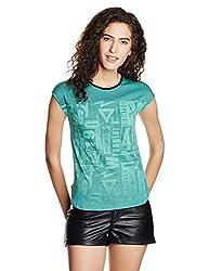 Wrangler Womens T-Shirt (W20021360C07_JSW-Green_L)