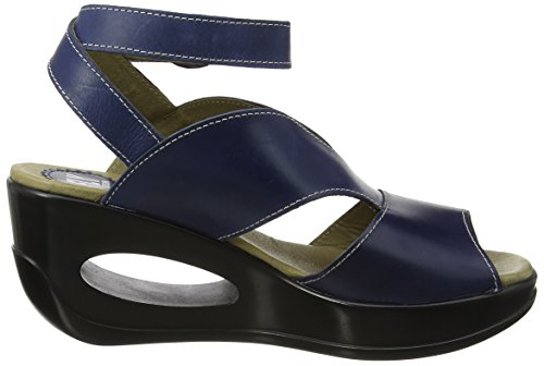 FLY London Hibo869, Sandales Compensées  Femme Bleu (Blue 005)