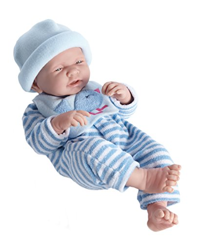 Berenguer 18106-Baby Schlafanzug gestreift, 38cm (Junge Berenguer Puppe)