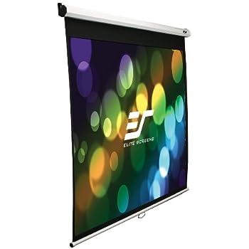 Elite M120XWV2 Manual Pull Down 120 inch Projector Screen - White