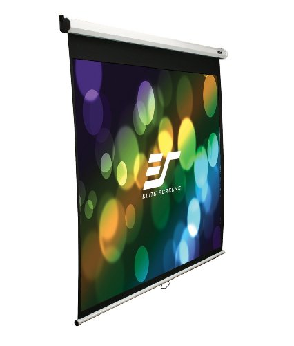 Elite Screens M84NWV Manual Series Leinwand (Diagonal 213,4 cm (84 Zoll), Höhe 127,8 cm (50,3 Zoll), Breite 170,2 cm (67 Zoll), Format 4:3) weiß - Diagonale Elite Screens
