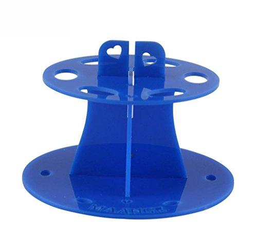 Tongshi 6 Agujero Oval Titular de cepillo del maquillaje de secado Panel de herramientas estante organizador cosmético