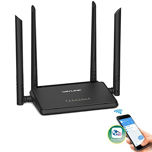 WiFi Router, MECO Wi-Fi Booster Extender Support Smart Router APP Management with 4 x 5dBi Adjustable Antennas for Home and Office