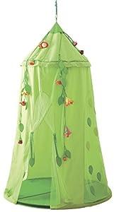 Haba 2969 - Tienda de campaña para cuarto infantil, diseño de flores, color verde