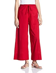 Fabindia Womens Parallel (10405517_Red_M)