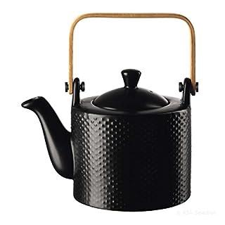 ASA - BLACKTEA - Teekanne mit Teesieb- pikee schwarz matt Ø12 cm Höhe 16,7 cm - 0,75l
