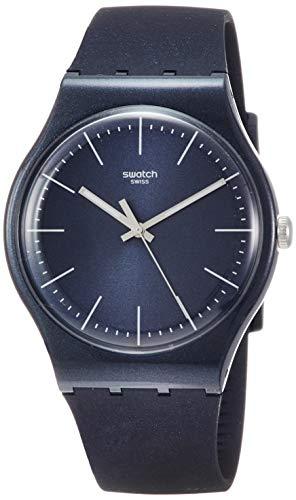 Orologio Swatch New Gent SUON136 Al quarzo (batteria) Plastica Quandrante Blu Cinturino Silicone