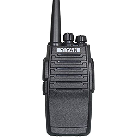 Jamón radio de dos vías YI-5P UHF 400-470MHz 16 canales Vox 5 vatios 2-5 millas Cb Walkie-Talkie Transceptor, Black