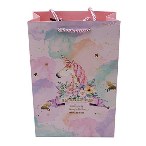 Sevenfly Einhorn Party Bag Geschenktüte Party Weihnachten Hochzeit Geschenk Carrier Party Supplies, Große 15 * 7 * 22,5 cm