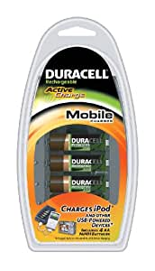 Duracell Battery Charger With USB Including 4 AA Batteries CEF23