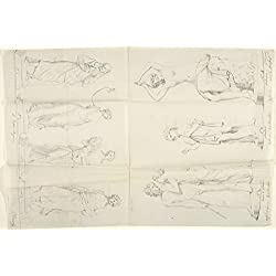 John Gibson – Sketches of Seven Statues: The Four Seasons Venus and Adonis A Beggar and The Nymph Salmace Kunstdruck (45,72 x 60,96 cm)