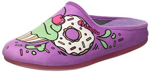 Inblu virgola, pantofole aperte sulla caviglia donna, viola (glicine), 37 eu