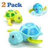Gamtec Baby Bathing Bath Vasca da Bagno Pool Toy Carino Wind Up Turtle Animal Bath Toys Set per Bambini (2 Pezzi)