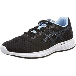 Asics Patriot 10, Zapatillas de Running para Mujer, Negro (Black/Skylight 003), 39 EU