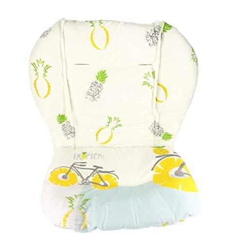 Cuscino per seggiolone, amcho passeggino/seggiolone / cuscino per seggiolino auto pellicola protettiva cuscino per seggiolone traspirante (ananas giallo)