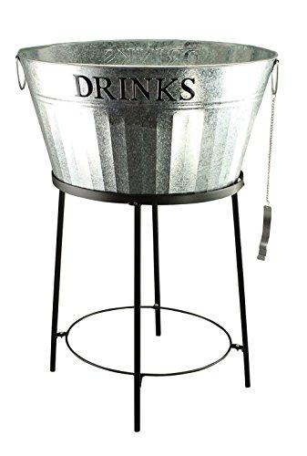 Zinkwanne Getränkekühler m. Flaschenöffner Sektkühler Flaschenkühler Bierkühler NEU