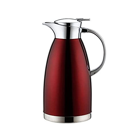 Haosen 1.8 Litre Stainless Steel Thermos Coffee Carafe, Double Walled Vacuum Insulated Coffee Pot Thermal Jug - Leak Proof and Heat Cold Retention