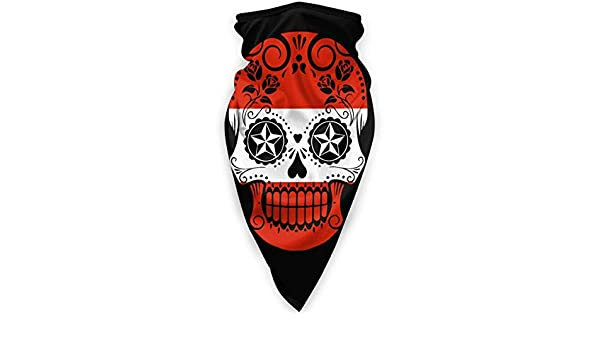 KKs-Shop Serbien Flagge Zuckersch/ädel Kopfbedeckung Halsmanschette Stirnband f/ür und Frauen Multifunktionales Kopftuch Gesicht