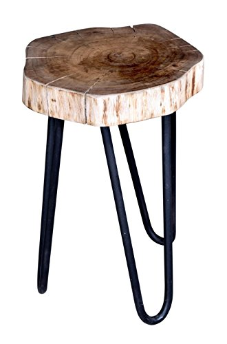 Vintage Live Edge Stool (Brown) - Rustic & Contemporary look