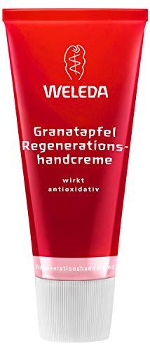 WELEDA Granatapfel Regenerationshandcreme, Naturkosmetik Feuchtigkeitscreme gegen Pigmentflecken und zur gesunden Regeneration trockener Hände, Handcreme zur Straffung der Haut (1 x 50 ml)
