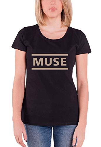 Muse T Shirt Classic Band Logo Simulation Theory Nue offiziell Damen Skinny Fit