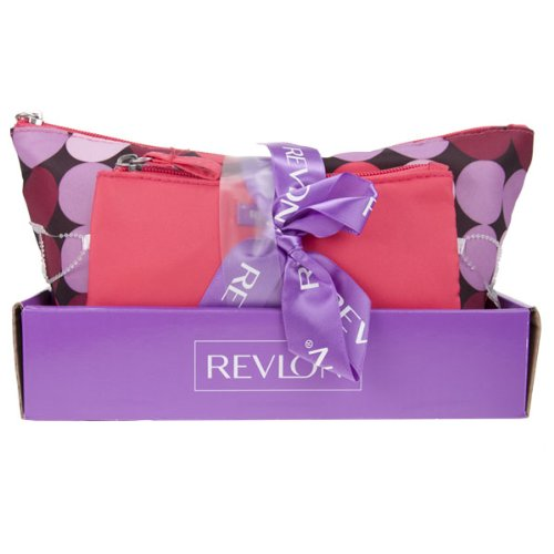 Revlon 2 Piece Tote & Bag Polka Dot Gift Set