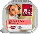 Dein Bestes Nassfutter für Hunde mit Kalb & Pute, klassisch, 300 g Alleinfuttermittel