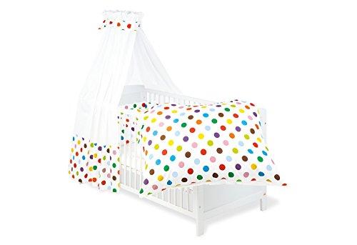 Pinolino 60666-0 - Set für Kinderbett, 4-teilig sieger design for Pinolino 'Dots' (Euro Bettbezug)