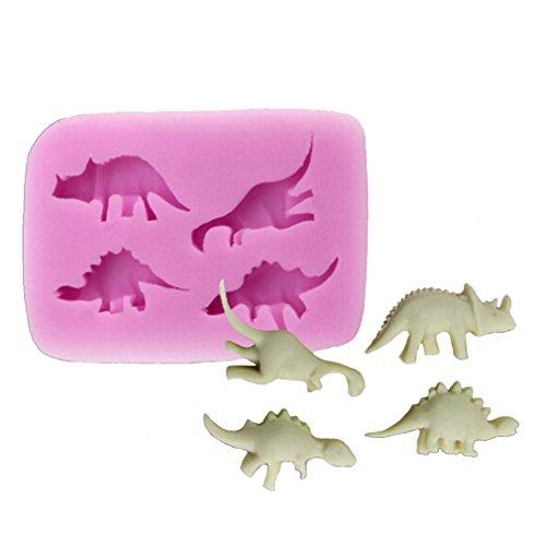 HENGSONG Dinosaurier Silikonform Kuchenform DIY Fondant Süßigkeiten Schokolade Form Backen Formen - Dinosaurier-kuchen-form