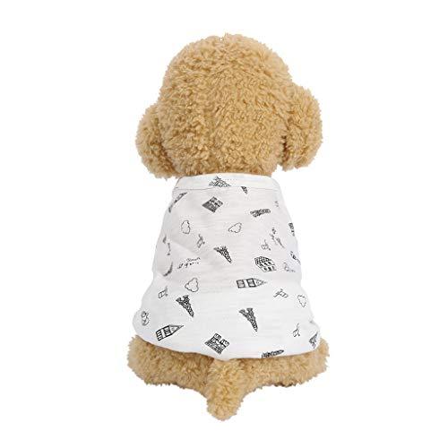 et frühling und Sommer Casual Druck t-Shirt Hund kostüme pet Kleidung ()