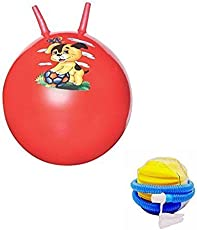 Multicolour Hopping Ball With Pump For Kids Diameter : 60 Cms by House of Gift