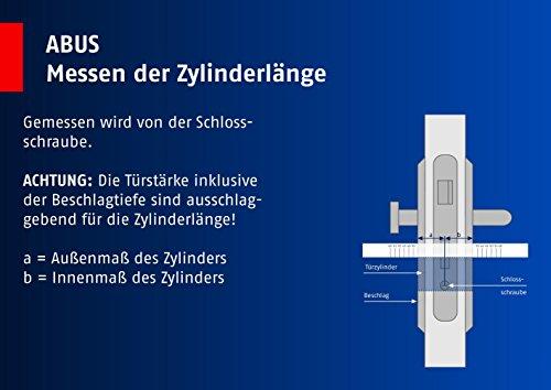 ABUS Profil-Zylinder D6XNP 30/40 mit Codekarte und 5 Schlüsseln - 5