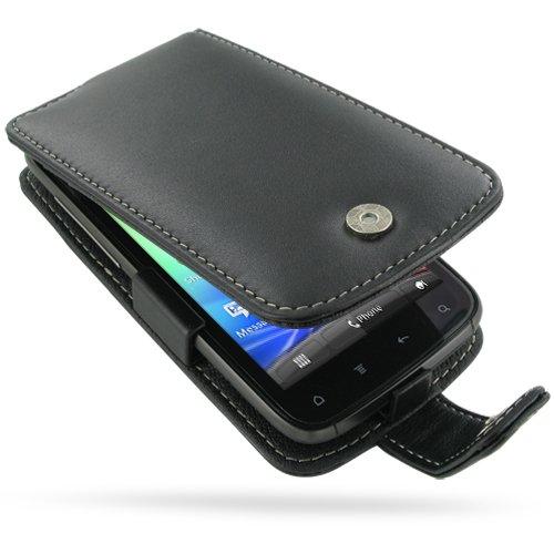 PDair F41 Black Leather Case for HTC Sensation 4G Z710e / HTC Sensation XE