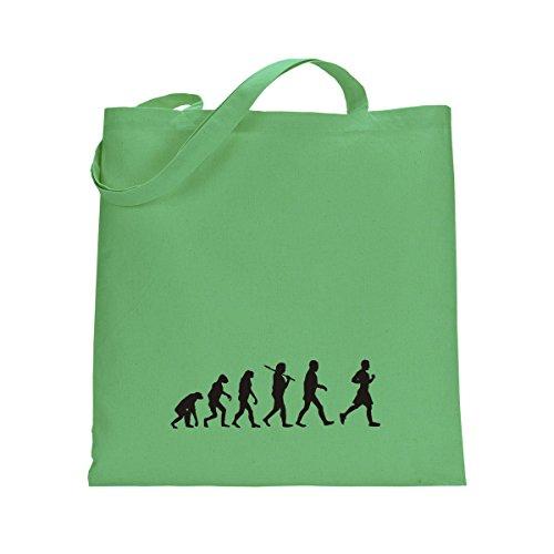 Shirtfun24 Baumwolltasche EVOLUTION JOGGER Jogging laufen, navy (blau) kiwi grün